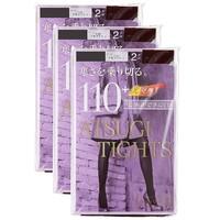 凑单品、限尺码:ATSUGI 厚木 110D 保暖光发热袜 2双*3组