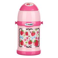 象印(ZOJIRUSHI) 儿童保温杯吸管杯SC-ZT45不锈钢进口双盖保温瓶450ml PZ粉色