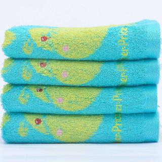 京东PLUS会员 : Fisher-Price 费雪 儿童竹纤维毛巾  4条装 33*66cm 蓝色