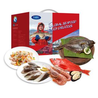 限四川 : 海鲜盛宴  冷冻福如海海鲜礼盒 2.75kg