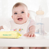 全棉时代 湿巾 婴儿湿巾  15*20cm 80片/包 3包/提