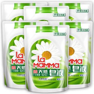 妈妈壹选 天然皂液袋装 500ml*6