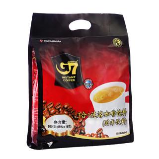 京东PLUS会员 : G7 COFFEE 中原咖啡 三合一速溶咖啡 16g*55条