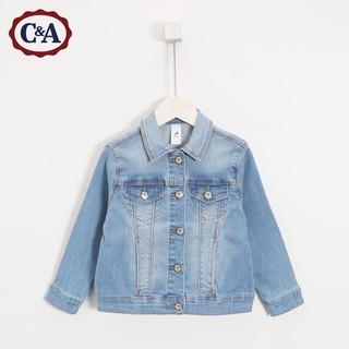 C&A CA200196014 女童水洗磨白牛仔外套