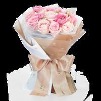 Roseonly 爱在满怀 女神节版特别款 粉色手捧玫瑰