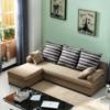 紫茉莉 小户型可拆洗布沙发 (三人位+功能脚踏)