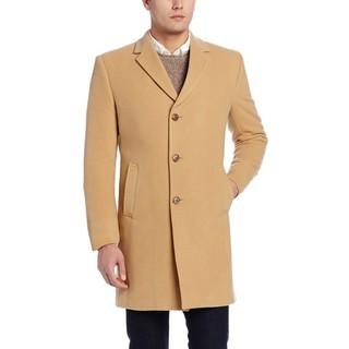 限尺码 : TOMMY HILFIGER Barnes Single-Breasted 男款羊毛大衣