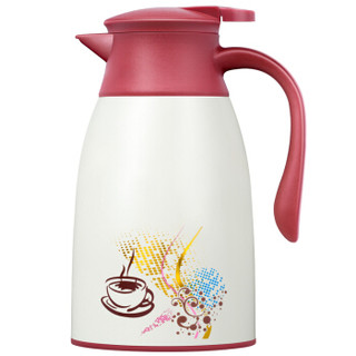 然也(RAE)双层玻璃内胆 咖啡壶1.0L红色R7510 *10件