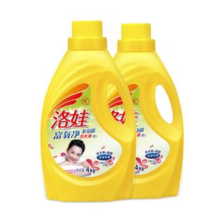 洛娃 多功能家庭装洗衣液 4kgx2瓶