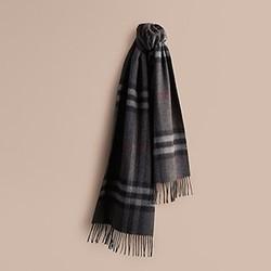 BURBERRY 博柏利 39137311 经典格纹羊绒围巾 *3件