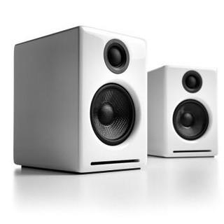 Audioengine 声擎 A2+W 高级桌面有源音箱  高光白