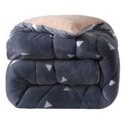 雅鹿自由自在  仿羊羔绒双人秋冬被子芯 欧格碎片 7斤 200*230cm *2件