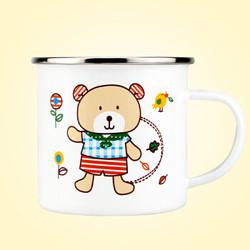 柯锐迩 卡通小熊搪瓷杯 *8件