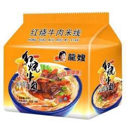 龙嫂 红烧牛肉米线 袋装非油炸速食面 5连包 500g *3件