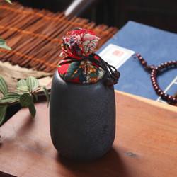 苏氏陶瓷(SUSHI CERAMICS)茶叶罐   怀旧铁锈釉大号 *2件
