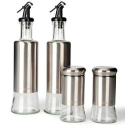 乐扣乐扣(lock&lock)304不锈钢油壶醋瓶调料瓶  4件套 CKO103S004 *2件