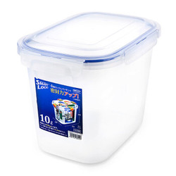 Lustroware   日本原装进口  高透明锁扣型五谷杂粮储存盒  10L B-2892 *2件