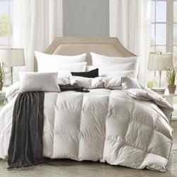鸿雁 被芯家纺 全棉舒适鹅毛被 双人加厚保暖冬被 白色 填充量2.3kg 200*230cm+凑单品