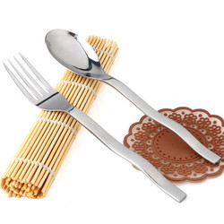 吉睿 筷勺/刀叉 经典系列 波浪蛇型1号不锈钢餐叉勺两件套 CZ5003 *2件