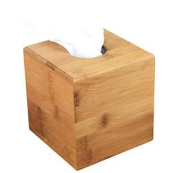 唐宗筷 竹质方形环保竹质纸巾盒  C6529 *2件