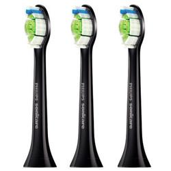 飞利浦PHILIPS 钻石声波震动电动牙刷头黑色款3支装HX6063/35 适用牙刷HX9352 HX9372 *2件
