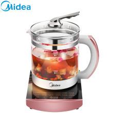 美的养生壶 WGE1701b 1.5L 高硼硅玻璃壶体 优质温控 煎药壶 煮茶壶 智能预约电热水壶