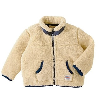 凑单品、限尺码 : MIKI HOUSE 宝宝毛绒外套 灰色 130cm款