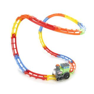 小泰克 little tikes 汽车玩具 旋转翻滚带跑道 翻滚小火车 638916