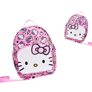 抱抱熊婴儿背带防走失带 带牵引绳背包儿童小书包亲子带Hello Kitty卡通款 KTD01粉红色