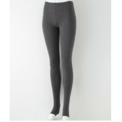 MUJI 无印良品 F7AG202 女士棉混弹力天竺踏脚裤