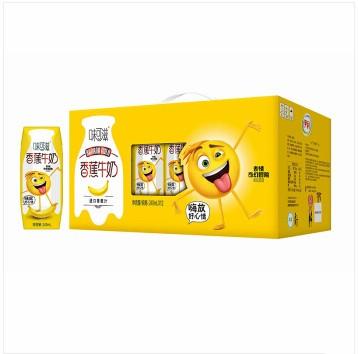 伊利 味可滋香蕉牛奶240ml*12