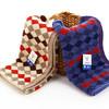 金号  菱形块 纯棉毛巾   G1745兰棕2条盒装 19.9元