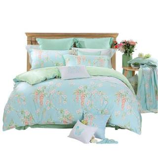 MERCURY 水星家纺 威尼斯花园 全棉斜纹印花四件套 1.8米床