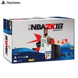 SONY 索尼 PlayStation 4 Pro(PS4 Pro) 《NBA 2K18》限量珍藏套装(晶透蓝手柄版)
