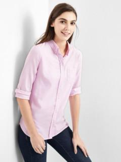 Gap 盖璞 195056 女士纯棉修身衬衫