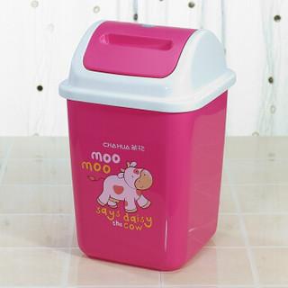 茶花 欧式翻盖垃圾桶 10.8L 1203 *4件