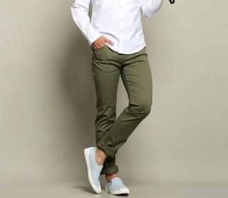 JEANSWEST 真维斯 男士纯色中腰休闲裤