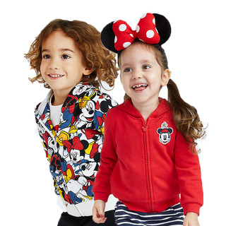 Disney baby 迪士尼宝宝 男女童针织卡通连帽外套 1-7岁