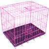 L&H乐活 宠物窝笼 便携铁丝折叠笼具 HKP-B1001粉色 *3件 107元(合35.67元/件)
