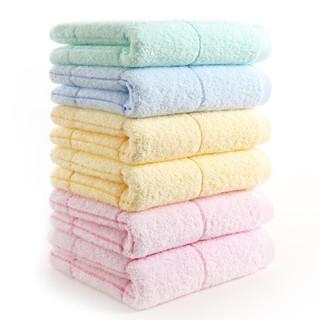 金号纯棉提缎毛巾GA1007T六条装混色 柔软吸水面巾 72*33cm 80g/条