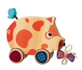 B.toys 比乐 BX1393Z 木制小猪拖拉玩具