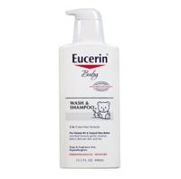 Eucerin优色林宝宝沐浴洗发露 13.5液体盎司(400毫升)(3件装) *2件