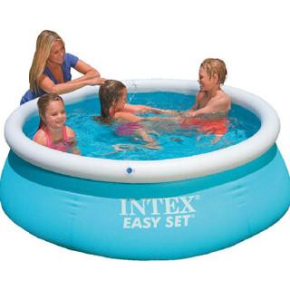 INTEX 28101蝶形婴幼儿充气游泳池大儿童水池大家庭加厚游泳池 *2件