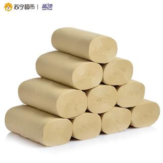 纯竹工坊卷纸竹纤维无漂白本色卷纸4层58克无芯卷纸*10卷