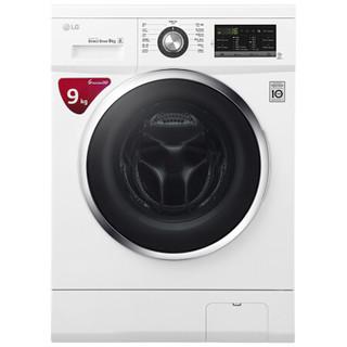 LG 9KG直驱变频 滚筒洗衣机 静音 LED触摸屏 洁桶洗 6种智能手洗 奢华白 WD-VH455D1