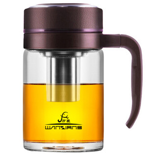 万象(WANXIANG)U211 480ML 商务手柄玻璃杯 办公带滤网泡茶杯 时尚男女水杯 紫色