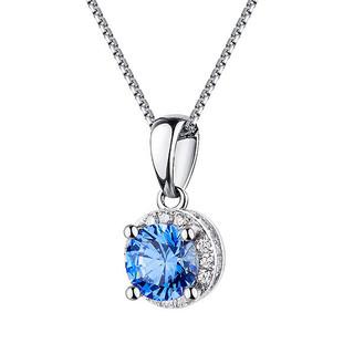 AFFINER 阿菲娜 AFP2035 925银 蓝色港湾锆石项链