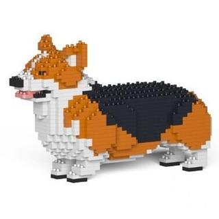 值友专享 : JEKCA·仿真汪星人柯基犬(小款)拼插积木·8款可选