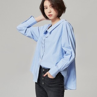 网易严选 oversize 女士条纹衬衫