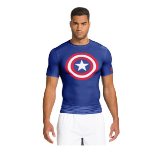 UNDER ARMOUR 安德玛 英雄系列 男子强力伸缩型短袖T恤